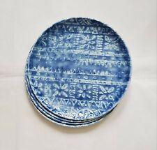 """New listing Set of 4 Melamine 10"""" Blue Dinner Plates - Threshold, New!"""