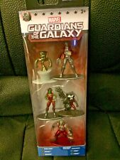 NEW MARVEL GUARDIANS OF THE GALAXY 5 FIGURES NANO METAL FIGS 100% DIE CAST METAL
