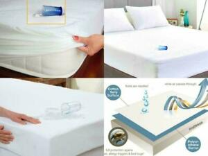 Terry Towel Mattress Protector Waterproof Fitted Bed Sheet Topper Non-Allergenic