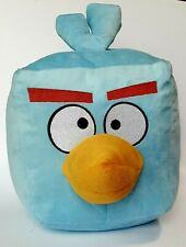 """Angry Birds Blue Space Ice Bomb Cube 8"""" x 8"""" Plush Stuffed Toy With Sound"""