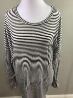 OLD NAVY Black & White Striped Lightweight Sweater Size XXL 2XL