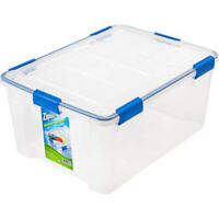 Ziploc 60 Qt. Plastic Storage Box Container Bin Tote Clear Durable Stackable Lid