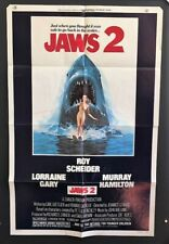 Jaws 2 Movie Poster 1978 Roy Scheider Classic Title Part 2 *Hollywood Posters*