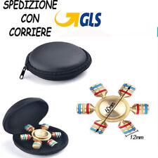 FIDGET SPINNER RILASSANTE CUSCINETTO 3D ANTI STRESS TASCABILE 6 PUNTE FERRO  t1