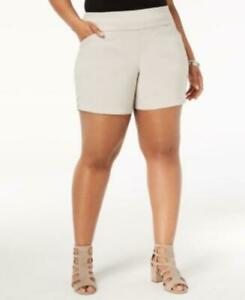 MSRP $60 Inc Plus Size Pull-On Shorts Beige Size 26W
