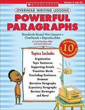Overhead Writing Lessons: Powerful Paragraphs : Standards-Based Mini Lessons