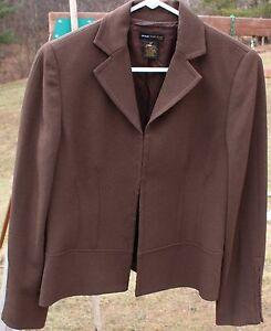 Women's Dark Brown Blazer by Grace Dane Lewis; Size:  8P