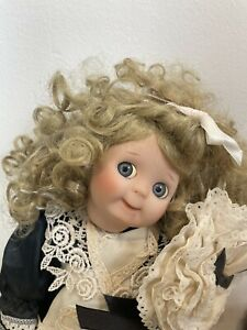 """Vintage 11"""" World Gallery Porcelain French Maid Doll Double O' Tootie Doll"""