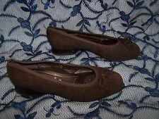 Tamaño 3.5 Marrón Gamuza Tacón Bajo Zapatos De Rene por Ara