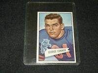 1952 BOWMAN FOOTBALL SMALL GEORGE CONNOR HOF CHICAGO BEARS / CARD  #19