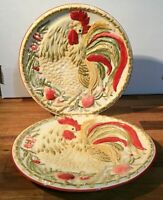 Royal Doulton Chanticlair Salad Plates. Rooster Design. Set of 2 [a-19]