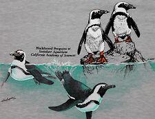 XXS * NOS thin vtg 80s 1987 PENGUIN steinhart aquarium CALIFORNIA t shirt