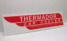 Red & White Thermador Car Cooler Sticker, evaporative swamp cooler decal