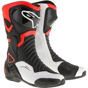 Alpinestars SMX6 v2 Black/Red Fluo/White Motorbike Street/Sports Boots