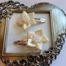 girls hair clips snap clips slides bendies flower hair clip cream flowers