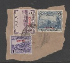 PAKISTAN 3 SERVICE STAMPS - ON PAPER - Used