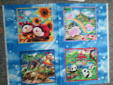 PILLOW PETS VARIETY 4 BLOCK COTTON FABRIC PANEL