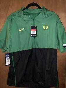 oregon ducks Nike 1/2 Zip Short Sleeve Lightweight sideline Jacket Men's L/large