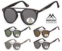 Occhiali da Sole Polarizzati Doppio Ponte Stile Moscot Montana MP49 con Fodero