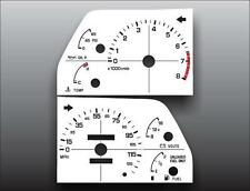 1990-1992 Subaru Loyale Tach Analog Dash Instrument Cluster White Face Gauges