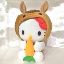 Hello Kitty stuffed plush doll zodiac Brown Horse Carrots japan limited Rare!