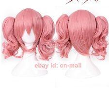New Inu x Boku Roromiya Karuta Short Pink Anime Cosplay Costume Wig + wig cap
