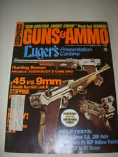 GUNS & AMMO Magazine, OCTOBER 1974, LUGER'S PRESENTATION CARBINE, GUN CONTROL!