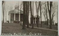 NY Ovid New York County Buildings c1940's-50's RPPC Postcard H2