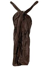 REISS Brown Dress Formal Evening Party Dress Size 8 marthe halter satin holiday