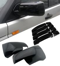 RANGE ROVER SPORT SIDE WING MIRROR COVERS & DOOR HANDLE COVERS GLOSS BLACK 05-09