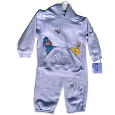 2pc Hoodie Sweat Pants Set 2T Lavender Embroidered Pooh Eeyore Butterfly '68 NWT
