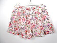 H&M Womens Vtg Look Bermuda Mom Shorts Culottes Floral Summer Casual sz 18 BH98