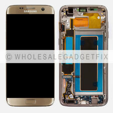 Gold LCD Touch Screen Digitizer + Frame For Samsung Galaxy S7 Edge G935A G935T