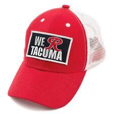 New listing Tacoma Rainers Baseball Cap We R Tacoma Trucker Hat Mesh White Red Minor League