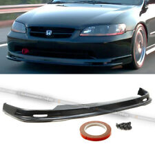 Fits 98-02 Accord 4DR Sedan Mu-gen Style PU Front Bumper Chin Lip Body Kit