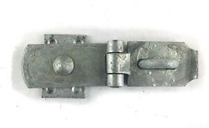 "Swivel Hasp & Staple Locking Bar 8"" Heavy Duty Galvanised Gate Shed Door Lock"