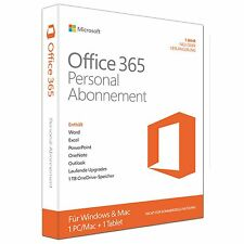 Microsoft Office 365 Personal-Abonnement-Lizenz (1 Jahr) -1 Tablet, 1 PC NEU&OVP