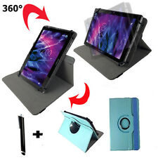 10.1 zoll Tablet Tasche - Sanyo TAB A01 SD Hülle Case - 360° Türkis baby Blau 10