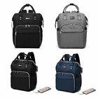 Unisex Travel Rucksack Shoulder Laptop Bag USB School Large Backpack Waterproof