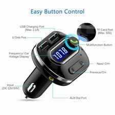VICTSING Bluetooth 4.1 Car FM Transmitter Wireless MP3 Radio Adapter USB Charger