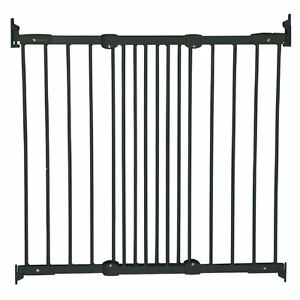 BabyDan Flexible Fit Baby Gate Diagonal Fix Stair Gate Safety Pet Gate Black