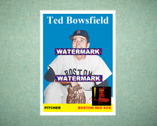 Ted Bowsfield Boston Red Sox 1958 Style Custom Art Card