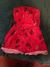 Women's Romper. Small - Red Floral. Size small