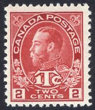Canada 1916 2c+1c Bright Carm WAR TAX DIE I SG 232 Sc MR3 UMM/MNH Cat£45($68)+++