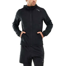2XU Mens XVENT Run Jacket Top Black Sports Running Full Zip Hooded Breathable