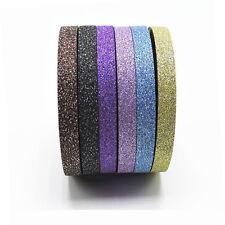 6PC/Set Glitter Washi Tape Stationery Scrapbooking Decorative Tapes Adhesive