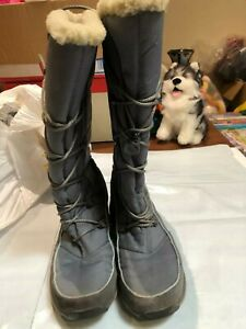 Womens Winter Boots Shoes- Clark's Size Uk 8 Colour Grey