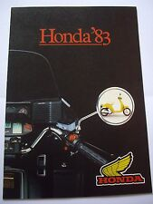 1983 Honda range sales brochure, CX650Turbo, CBX1000, CBR1100 etc