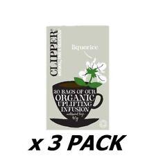 Clipper Organic Infusion Liquorice Tea 20 Bags (3 Pack)