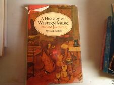 USED Book A History Of Western Music Revised Edition HB